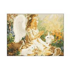 "Холст  с красками 30х40 см по номерам ""Ангел в сказочном лесу"" ST039 1"
