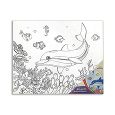 "Холст на картоне  25х30 см ""Морской мир"" Х-9698 1"