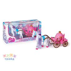 Карета с лошадкой (кукла и лошадь на бат. ) 8506/GC 1