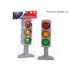 Умный светофор на бат. свет в пакете 25*10*4 см. 42811АПР 1