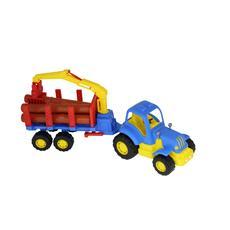 """Трактор """"Крепыш"""" с полуприцепом-лесовозом 44815 1"""
