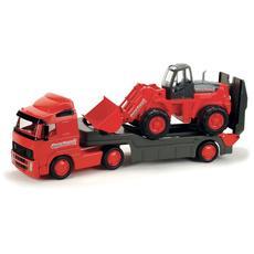 Авто Трейлер + трактор-погрузчик (VOLVO) в сетке 8831 1