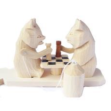 """Богородская игрушка """"Медведи-шахматисты"""" 8022 1"""