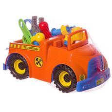 """Автомобиль """"Техпомощь"""" У820 (2 фигурки, плоскогубцы, отвертка, ключ, пластина, болт, гайка) 1"""