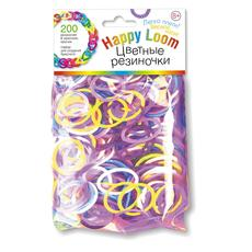 Цветные резиночки (200 резиночек, крючок, замки) в пакете 01509 1