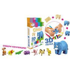 """Набор для лепки 3D """"Дикие животные"""" в асс-те 01920 (Чудо-Творчество) 1"""
