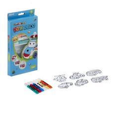 """Набор витражных красок с витражами """"Машинки"""", 6 цветов по 10, 5 мл. , 6 мини-витражей 22930 1"""