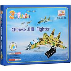 """3D-пазлы из пенокартона """"Военный самолет"""" ( 32 дет.) 589-2C 2"""