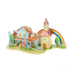 """3D-пазлы из пенокартона """"Радужный дом"""" 39 дет. ( 35*18*18 см) FUNNY 589-K 1"""