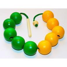 """Бусы """"Счет до 10-ти"""""""" (желто-зеленые) Д-501 1"""