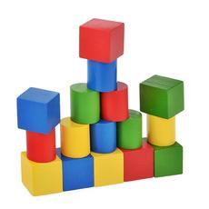 Набор геометрических фигур цветной (16 шт. ) Д-636 1