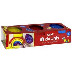 Тесто для лепки в баночках 3 цвета 32600 1