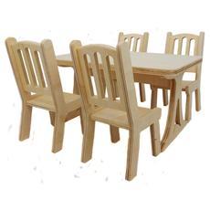 """Набор мебели """"Стол + 4 стула"""" малый (дерево) МК-001/033 1"""