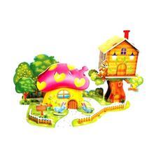 """3D пазлы из пенокартона """"Грибной дом"""" (мини-серия 26 дет. ) 689-L 1"""