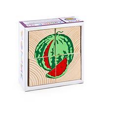 """Кубики 4 эл. """"Фрукты-ягоды"""" 3333-2 1"""