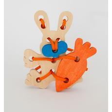 "Шнуровка ""Кролик и морковка"" (дерево) а-02 1"