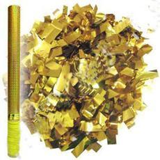 Пневмохлопушка в золотой металл. тубе 60 см. 109761 1