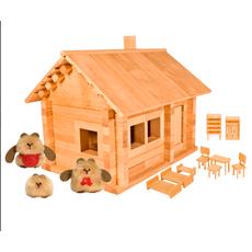 """Конструктор """"Избушка Три медведя"""" с мебелью и медведями к583км 1"""