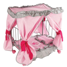 """Кроватка для кукол с балдахином """"Корона"""" 47*31*53см 67215 1"""