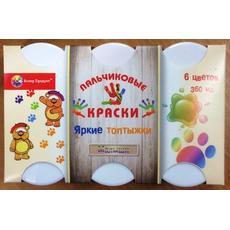 """Пальчиковые краски """"Малыши. 1+"""" 6 цв. 360 мл. 16-КП-6М-60 (Колер Продукт) 1"""