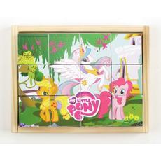 "Кубики 12эл. ""My Little Pony"" дерево. C-12-MPL 1"