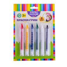Краски-грим в карандаше, 6 цв х 4гр/бл 57905 1