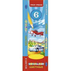 """Карандаши цветные 6цв. """"Самолет и авто"""" К-8292 1"""