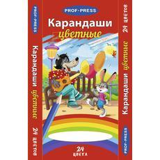 """Карандаши цветные 24цв. """"Волк и заяц"""" К-8302 1"""