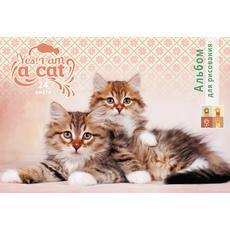 """Альбом для рисования """"Дружные котята"""" 24 листа А4 24-6180 1"""