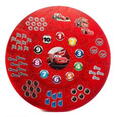 """Коврик-пазл """"DISNEY Тачки"""" круглый, 21 сегмент, диаметр 90см, в сумке FS-CARS 2"""