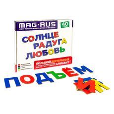 Большой деревянный магнитный алфавит 40 эл. NF1100 1