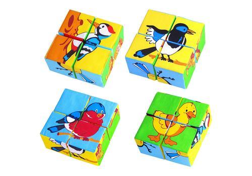 """Мякиши """"Собери картинку. Птицы"""" 4 кубика 239 1"""