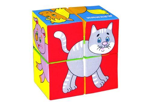 """Мякиши """"Собери картинку. Домашние Животные"""" 4 кубика 209 1"""