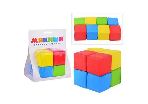 """Мякиши Кубики """"4 цвета"""" 8 кубиков 332 1"""