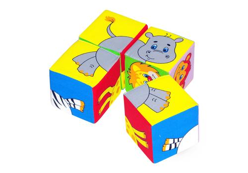 """Мякиши """"Собери картинку. Животные №2"""" 4 кубика 236 1"""