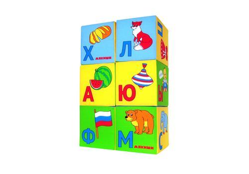 """Мякиши """"Азбука в картинках"""" 6 кубиков 207 1"""