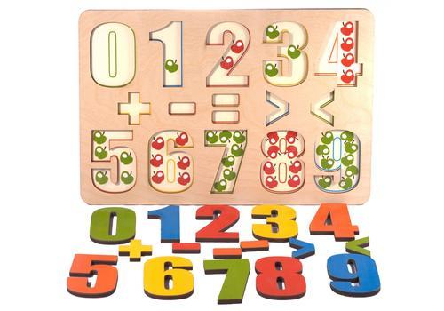 """Развивающая доска """"Разноцветные цифры"""" 7917 (16 деталей) 1"""