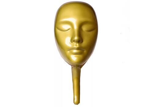 Мафия. Маска пластиковая золотая классическая 7973 1