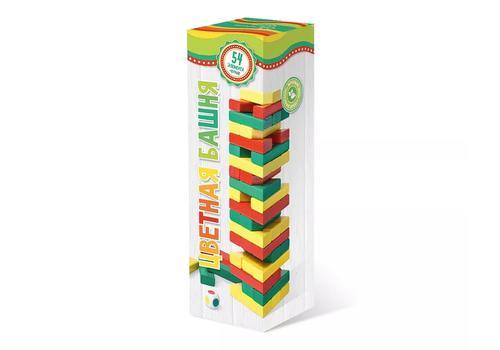 Башня Дженга цветная (с кубиком) 7794 1