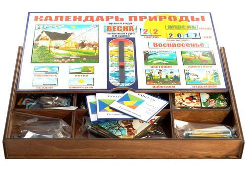 Календарь природы 7897 (140 деталей, деревянный ящик) 3