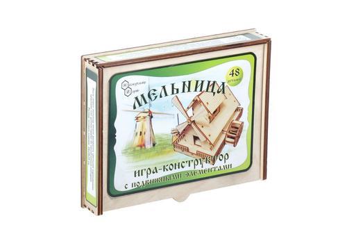 """Игра-конструктор""""Мельница"""" 48 дет. 7831 с движущимися элементами 1"""