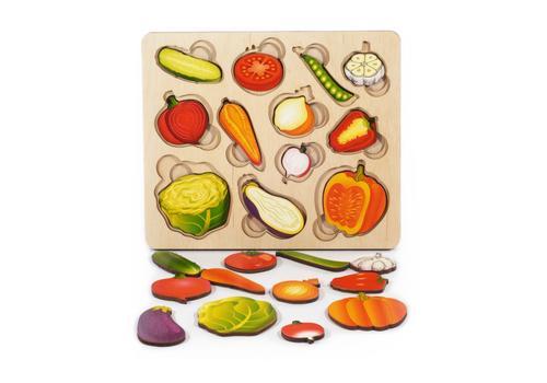 """Развивающая доска """"Часть и целое. Овощи"""" с разрезными вкладышами внутри 8017 1"""