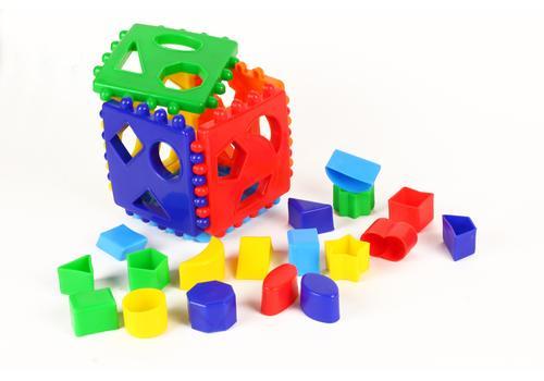 Логический куб со вставными деталями (Построй фигурки) 7090 1
