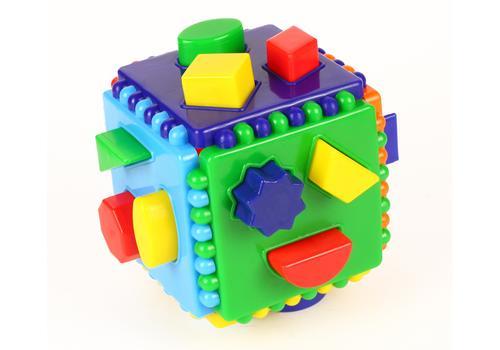 Логический куб со сквозными отверстиями (Построй фигурки) 7095 1