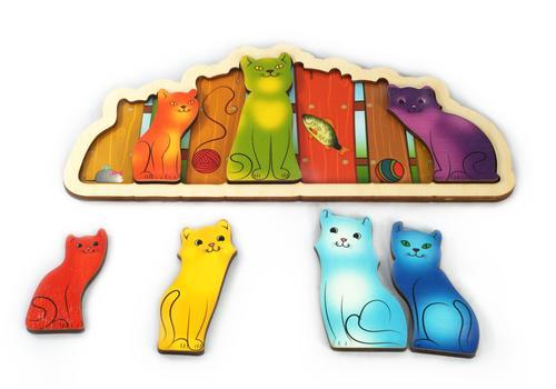 """Развивающая доска """"Разноцветные котята"""" (Радуга) 7932 1"""