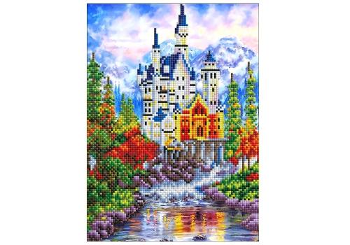 "Алмазная мозаика 20х30 см, без подр. (33 цв.) ""Германия.Замок Нойшванштайн"" ASF004 1"