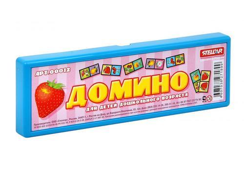 """Домино 00012 """"Фрукты"""" в футляре 1"""