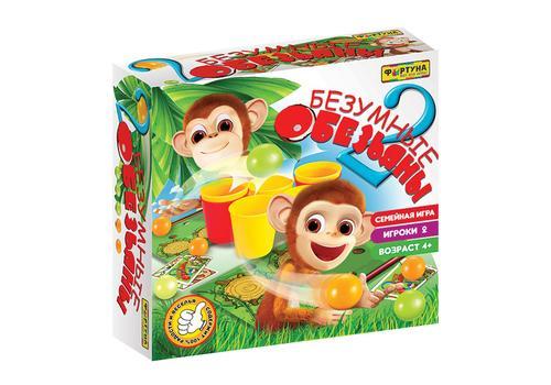 """Настольная семейная игра Ф86180 """"2 безумные обезьяны"""" 1"""