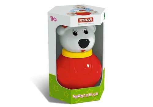 """Неваляшка малая 1609 """"Белый медведь"""" 1"""