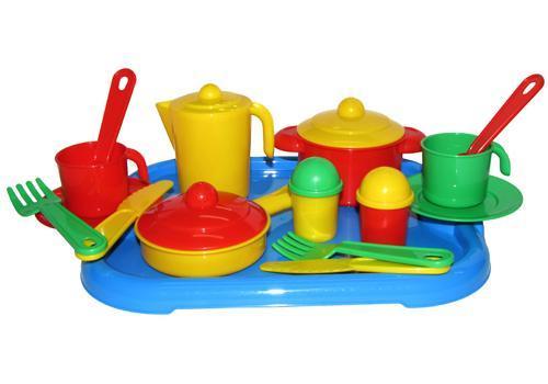 """Набор посуды """"Настенька"""" с подносом на 2 персоны 3940 1"""